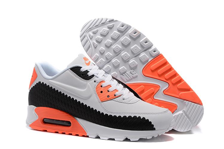 air max 90 hommes noir et orange