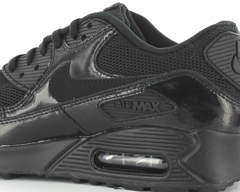 air max 90 premium femme noir et blanche,Nike Air max 90 premium femme NOIR BRILLANT 443817 002
