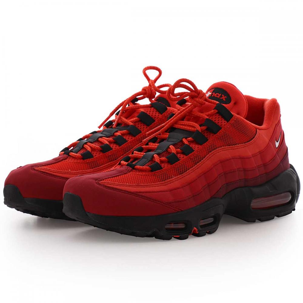 air max 95 homme rouge,Nike Sneakers AIR MAX 95 OG Habanero Rouge Blanc University