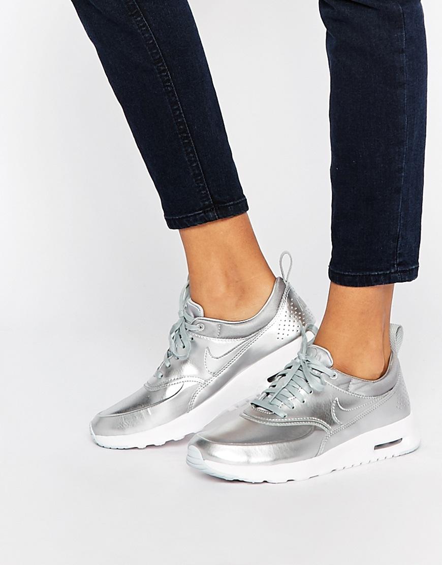 air max thea premium blanche et argente femme,Où acheter la Nike Air Max Thea PRM Metallic Silver Platinum