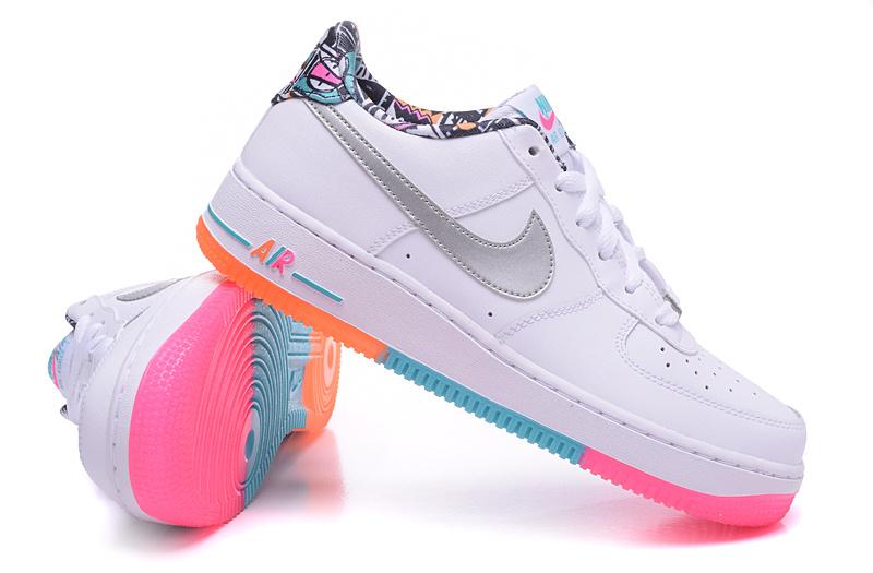 femme air force 1 low rose et blanche,Nike Femme Air Force 1 Low Chaussures AH0287 102 Blanche