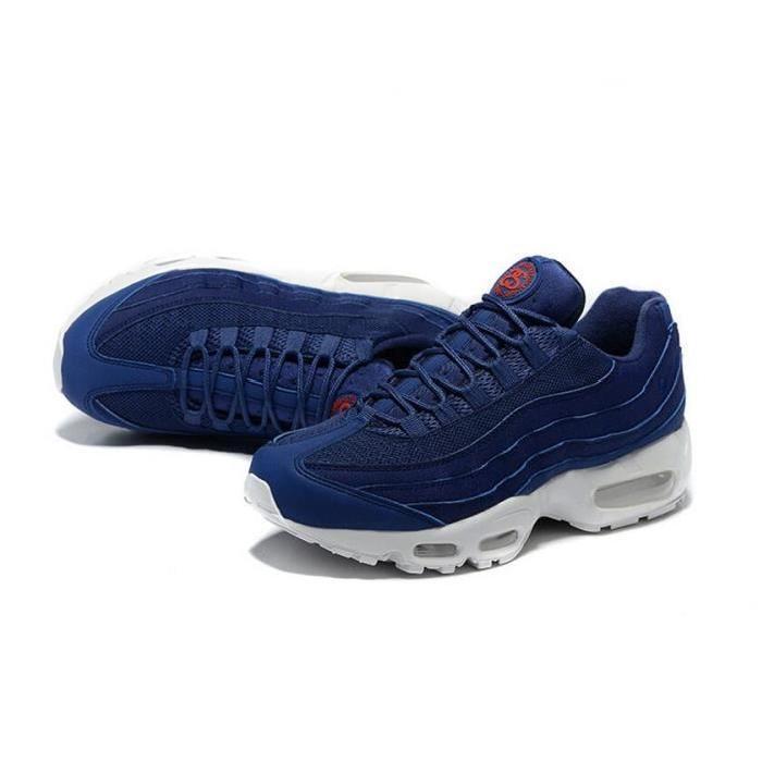 homme air max 95 bleu et blanche,Homme Nike Air Max 95 Bleu Blanc Noir