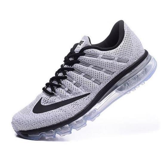 homme nike air max 2016 gris et rouge,Homme Nike Air Max 2016 Chaussures de running gris rouge et noir