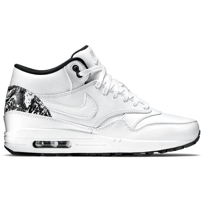 nike air max 1 mid fb pas cher,Nike Air Max 1 Mid FB 685192 100 Blanc blanc Achat Vente