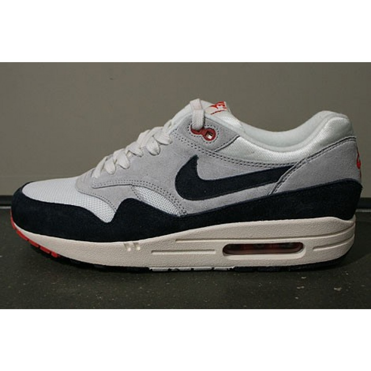 nike air max 1 pas cher pour homme,Officiel Nike Air Max 1 OG Red 2017 Chaussures Nike 2018 Pas Cher