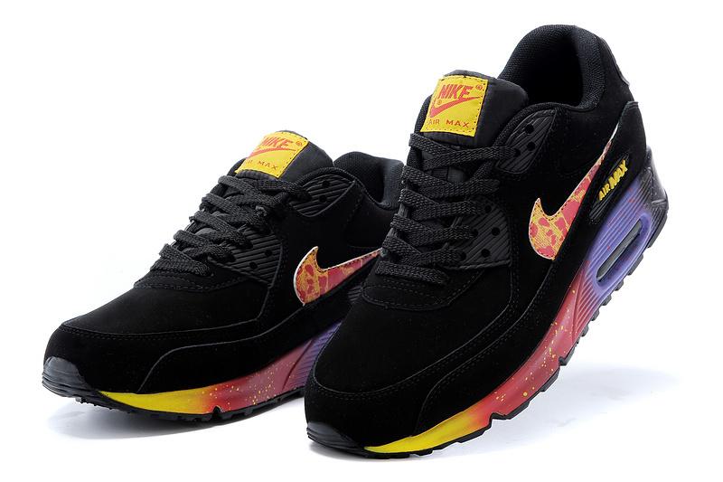 nike max 90 noir et orange homme pas cher,OFF WHITE x NIKE AIR MAX 90 Essential Chaussures de Running Homme